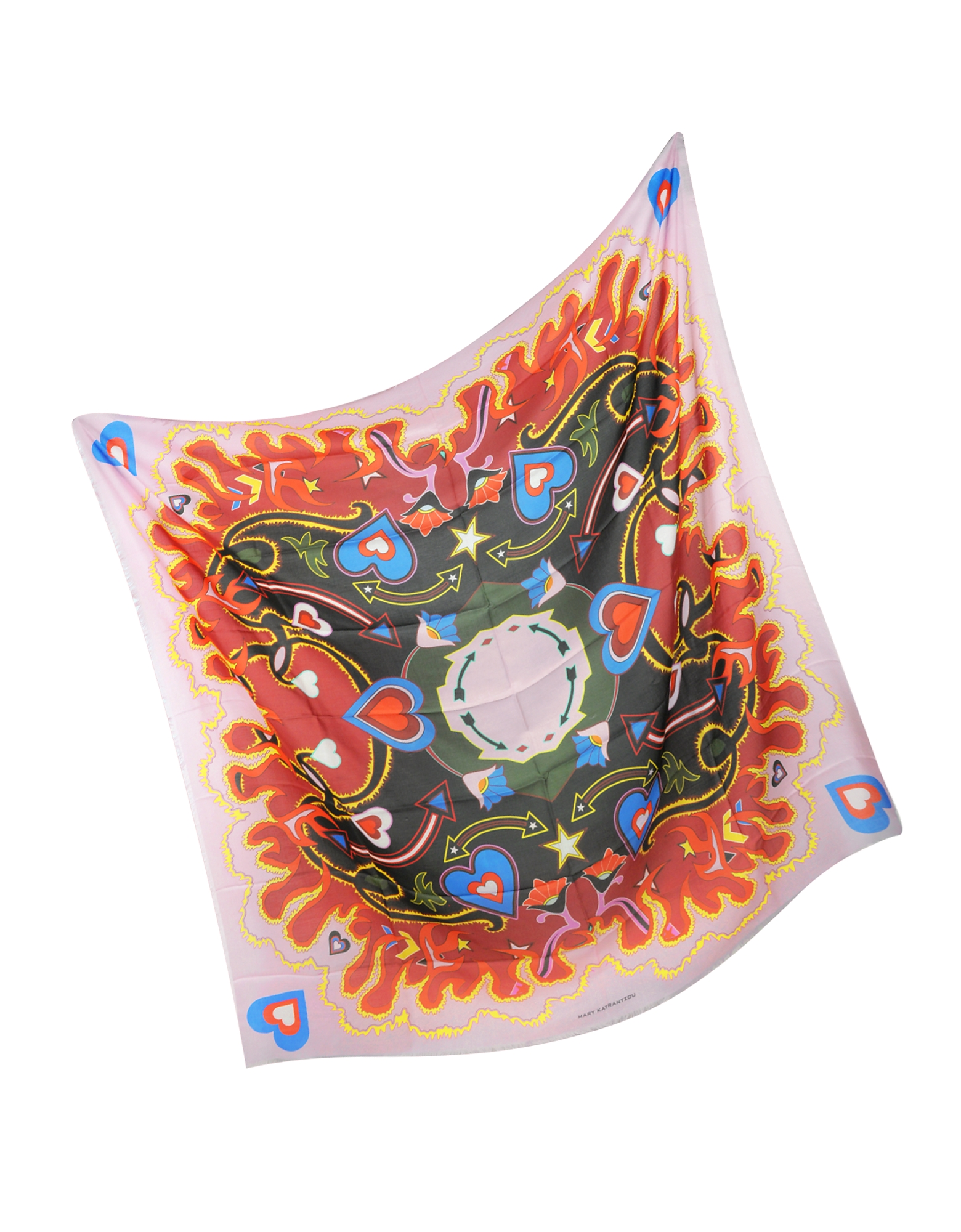 Heart Flames Modal and Cashmere Wrap от Forzieri.com INT