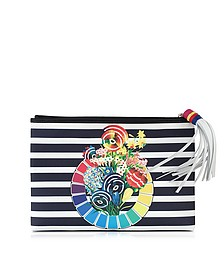 Sailor Colour Wheel Canvas Pouch - Mary Katrantzou
