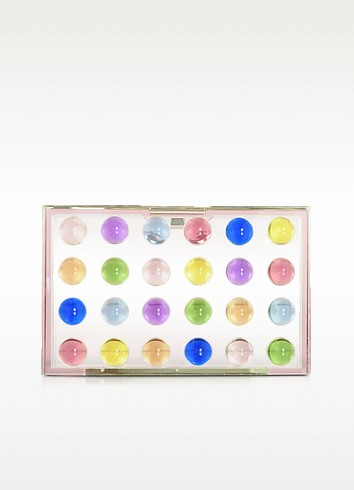 Dots Small Box Clutch - Mary Katrantzou