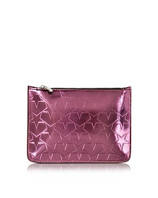 Laminated Leather Pouch w/Stars - Mary Katrantzou
