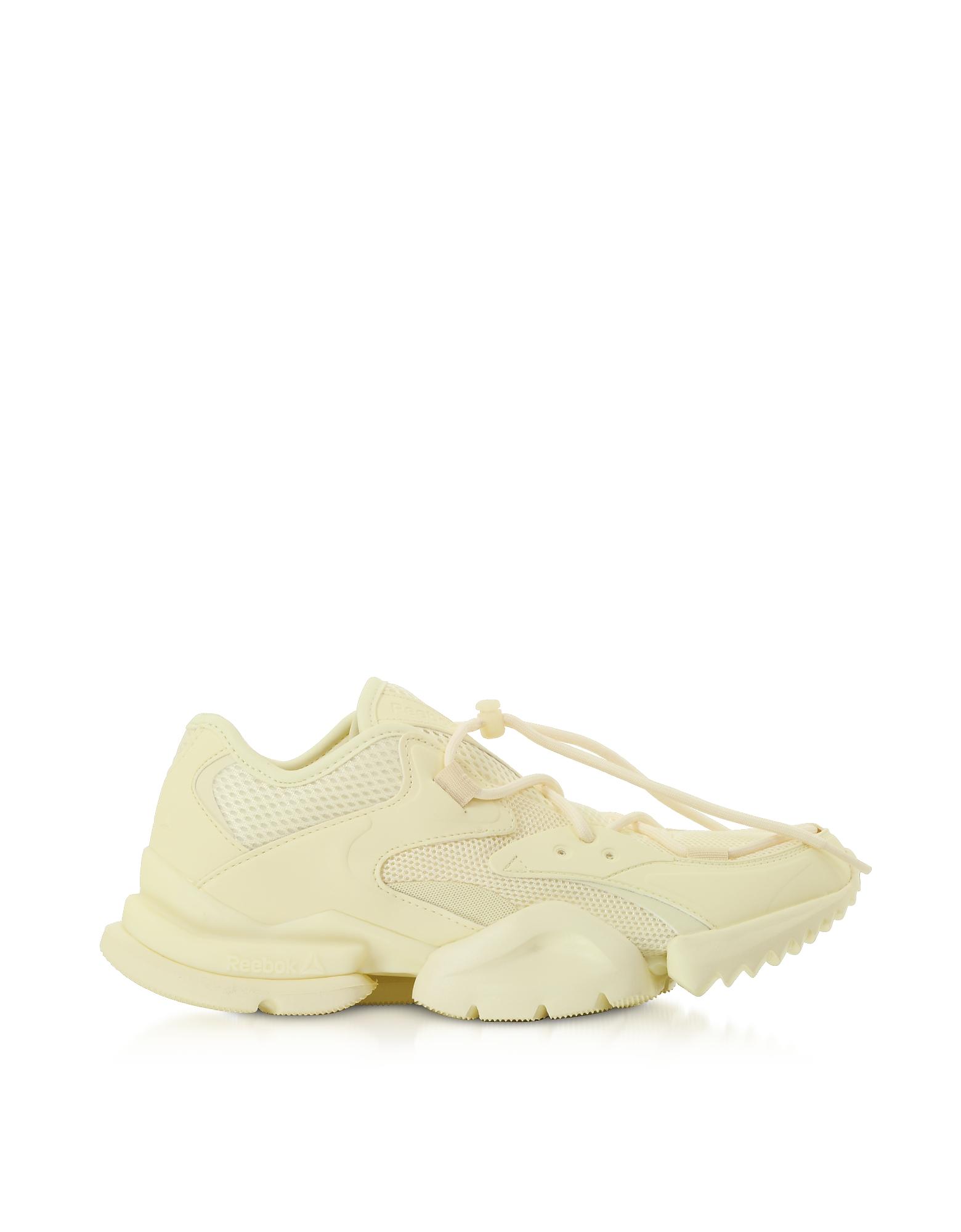Reebok Classics Designer Shoes, Pale Yellow Run R 96 Sneakers