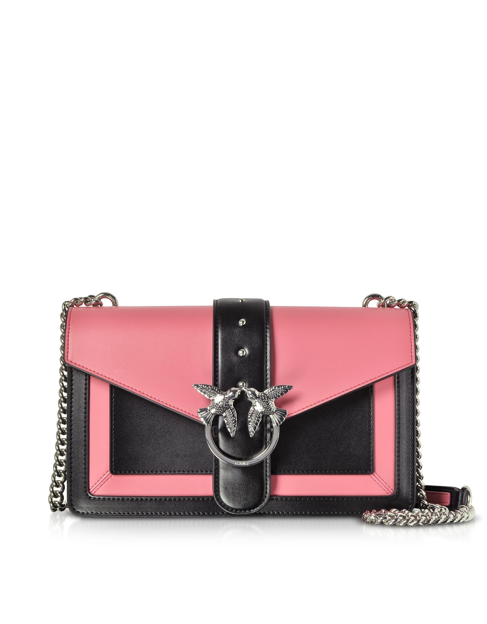 Color Block Leather New Evolution Shoulder Bag