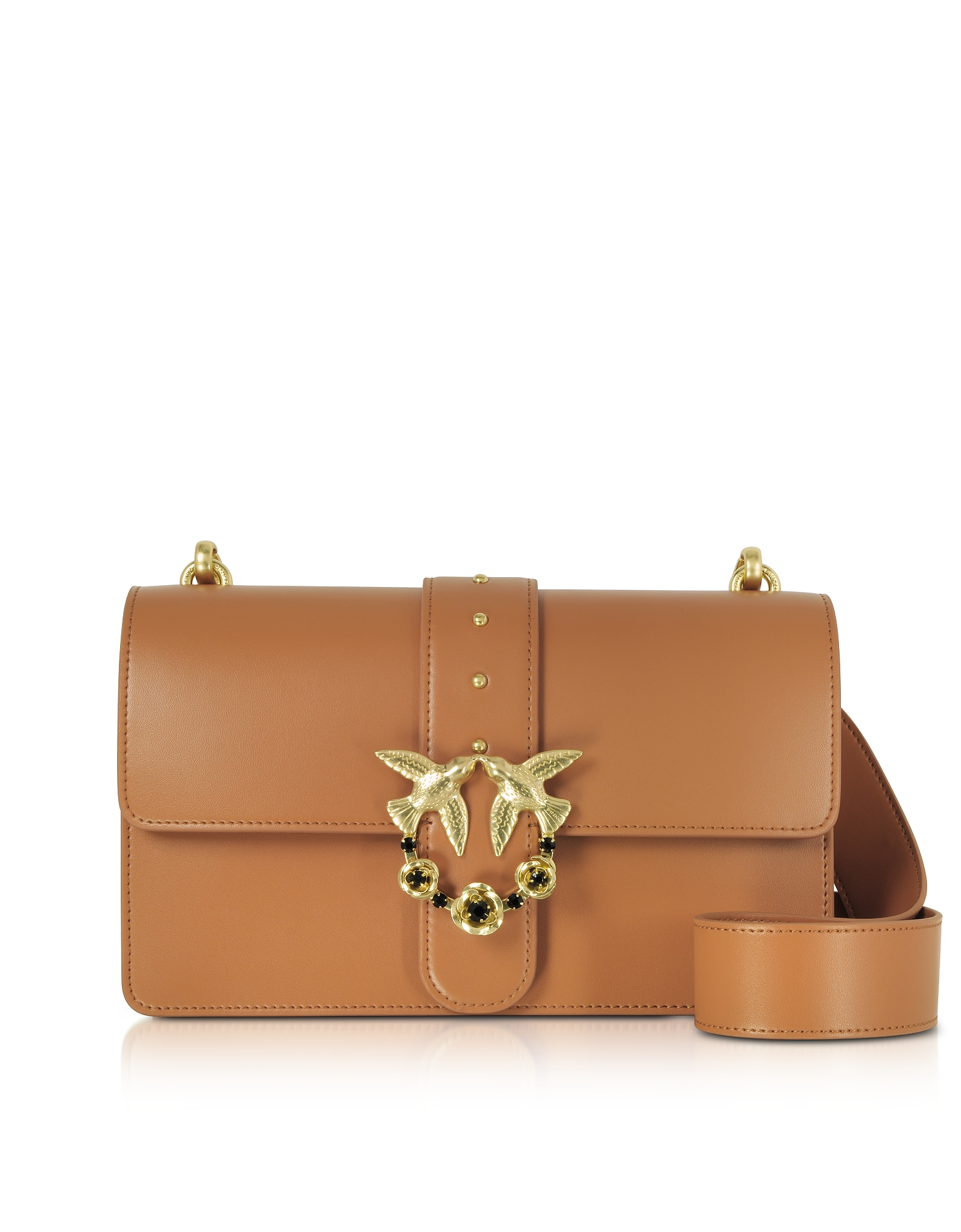 Pinko Handbags, Love Abbraccio Leather Shoulder Bag