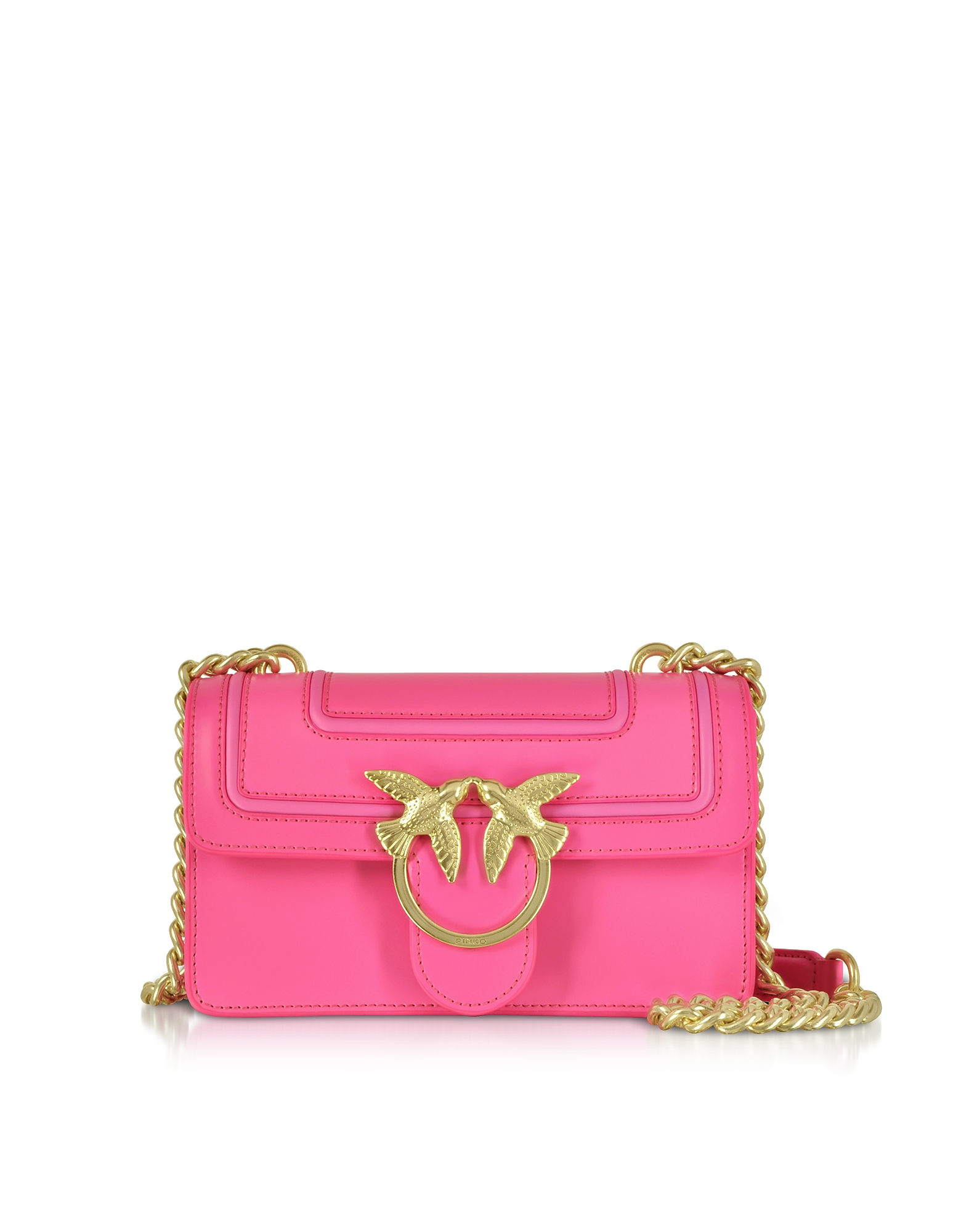 Neon Pink Mini Love Fluo Shoulder Bag