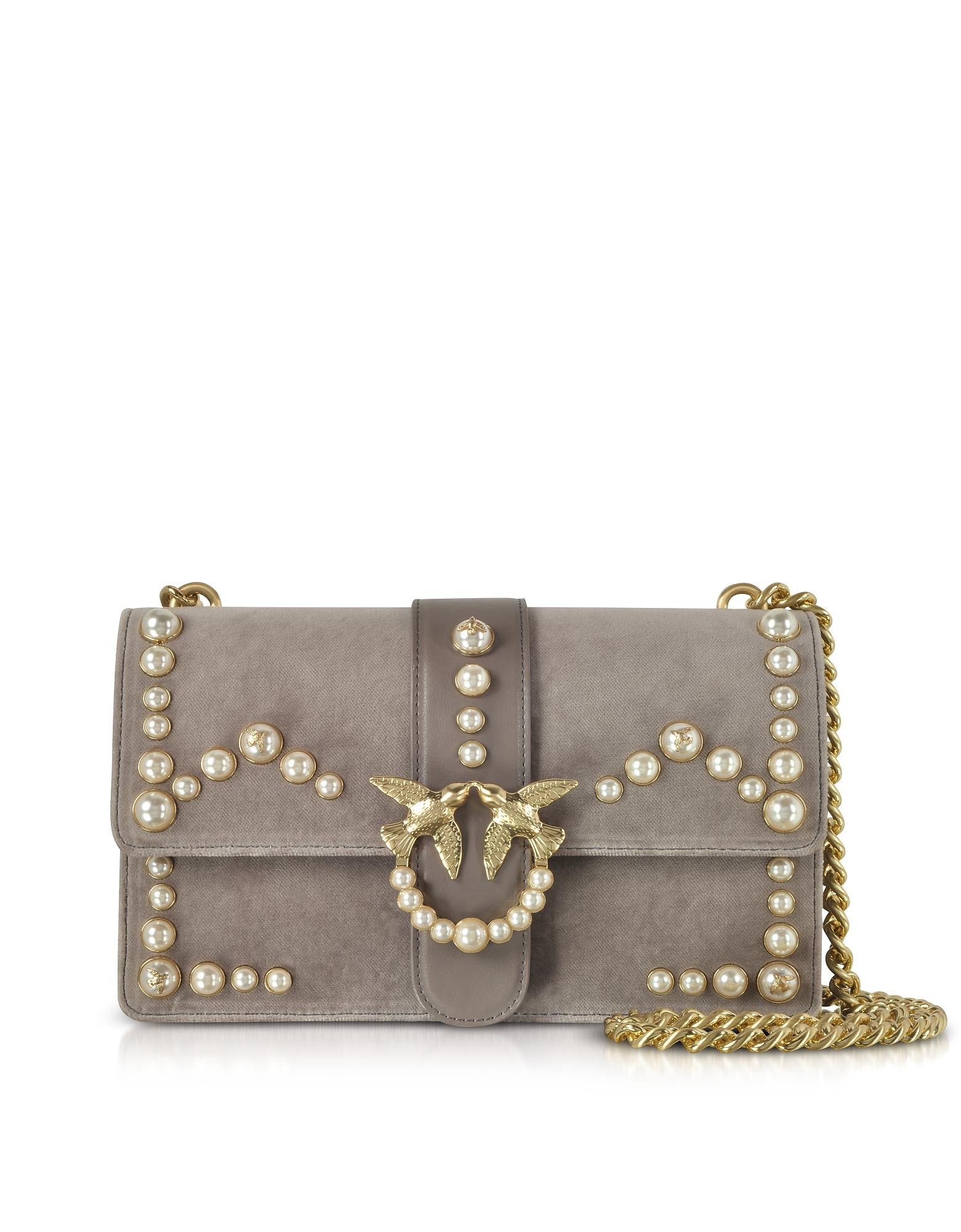 Love Velvet Pearls Shoulder Bag