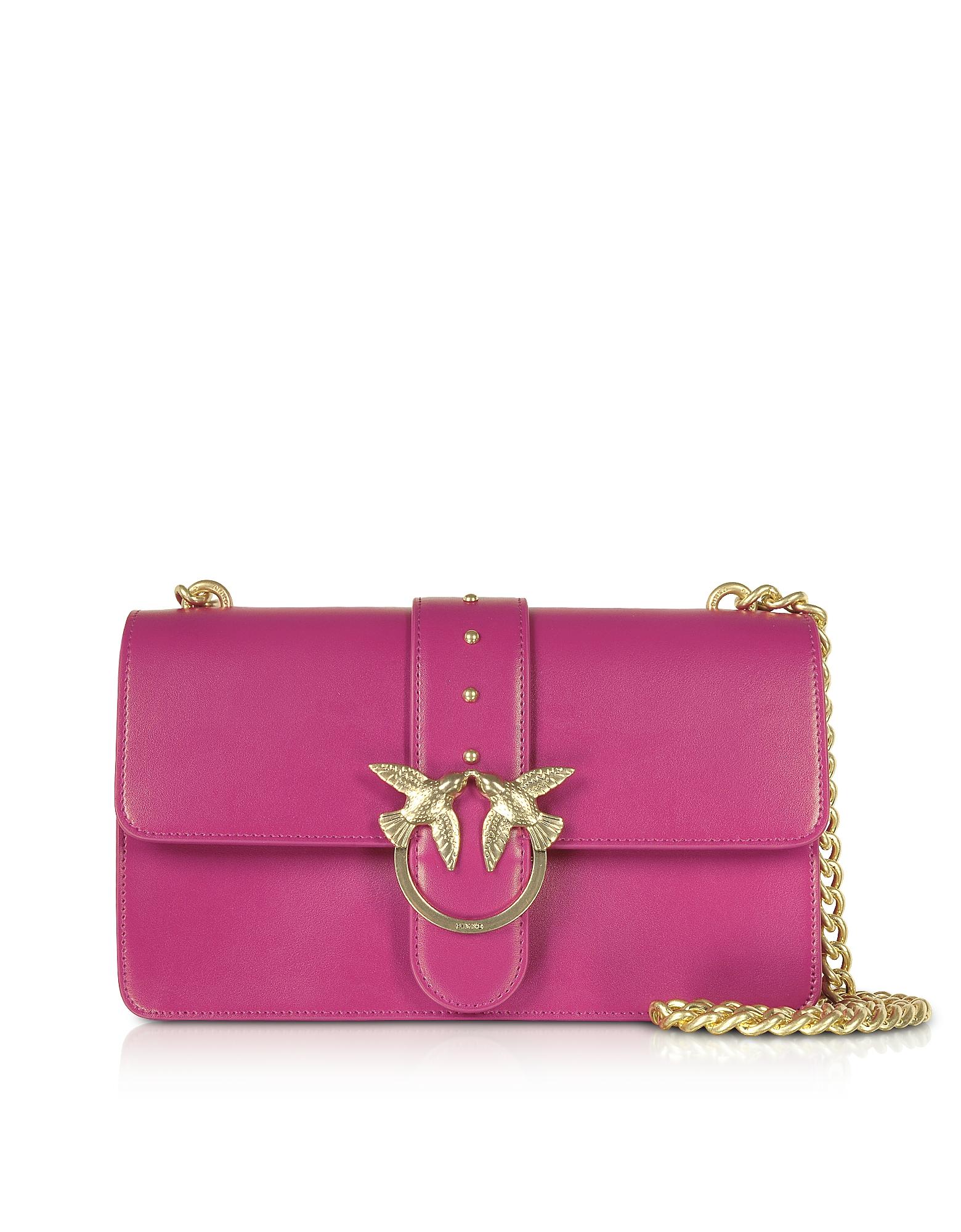 Love Simply 5 Leather Shoulder Bag