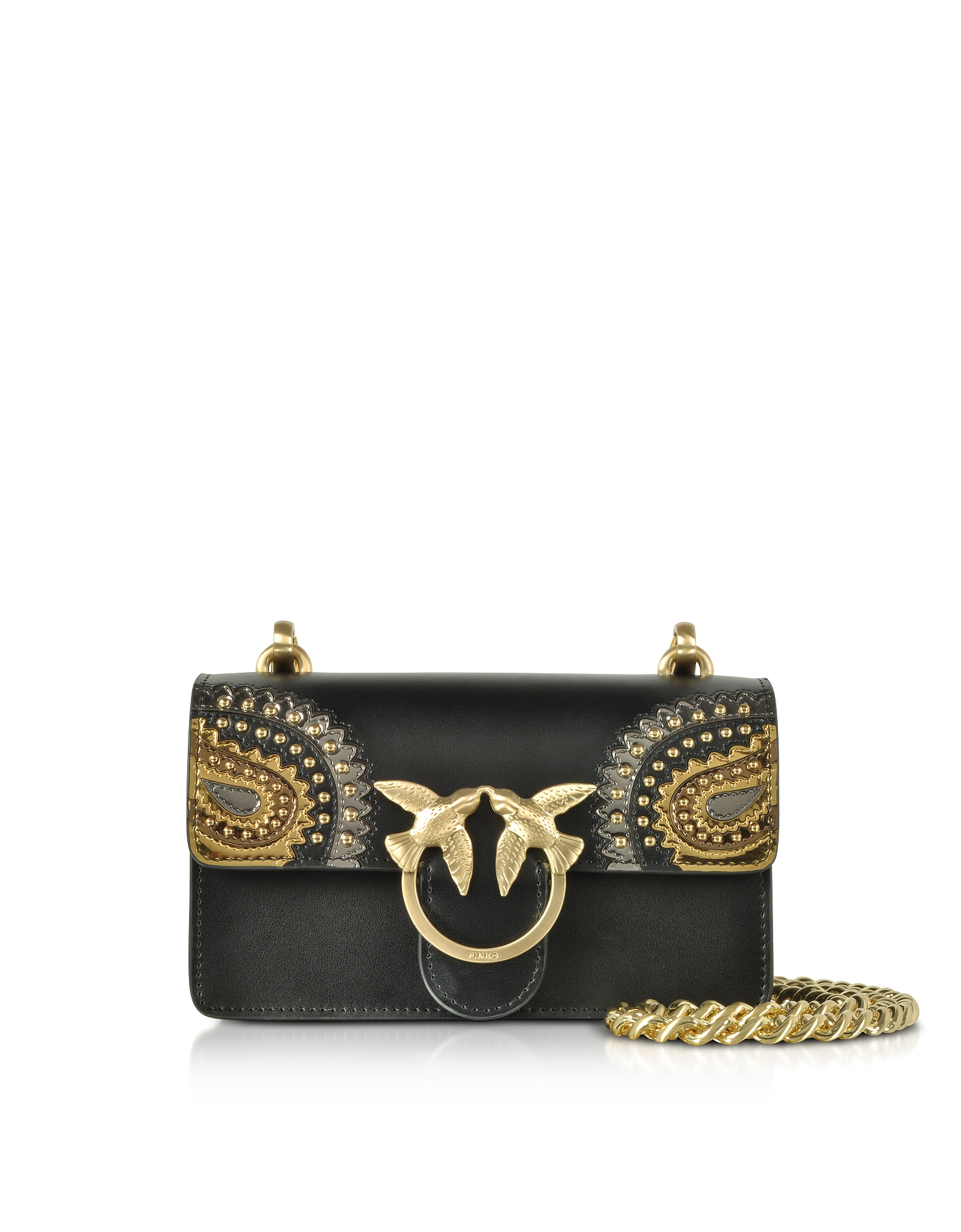 Black Mini Love Paisley Shoulder Bag
