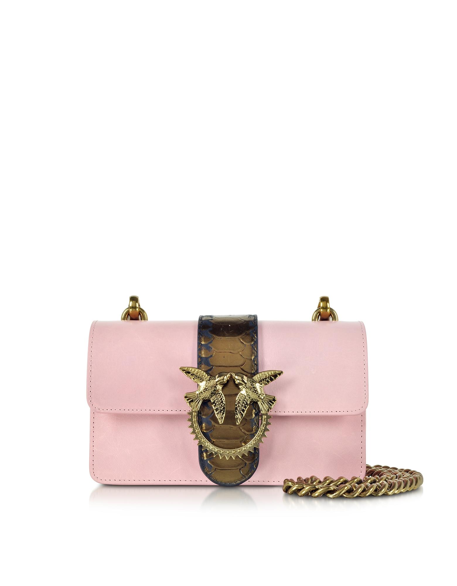 Light Pink Mini Love Python Western Shoulder Bag