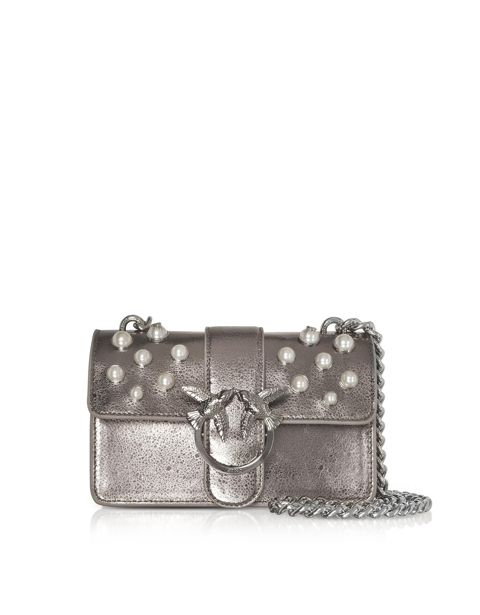 Pinko Handbags, Mini Love Shiny Pearl 1 Shouder Bag