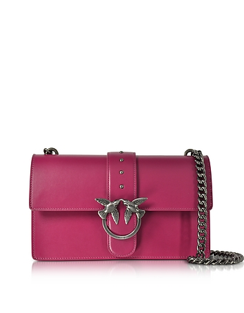 Pinko - Love Simply Fuchsia Leather Shoulder Bag