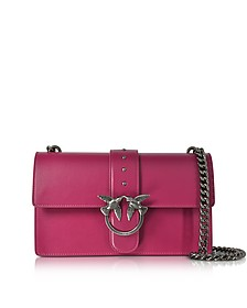 Love Simply Fuchsia Leather Shoulder Bag - Pinko