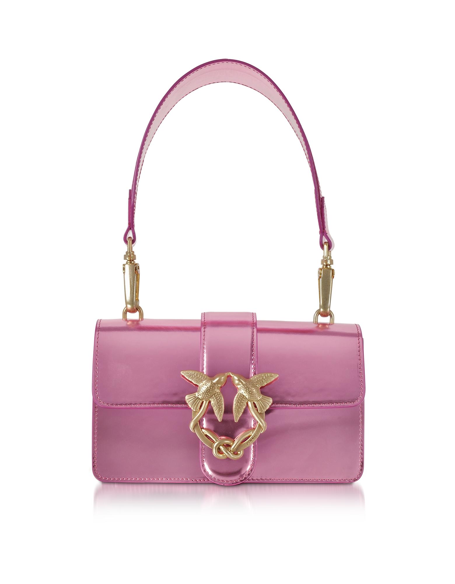Фото Mini Love Stars Azalea - Розовая Сумка на Плечо из Ламинированной Кожи. Купить с доставкой
