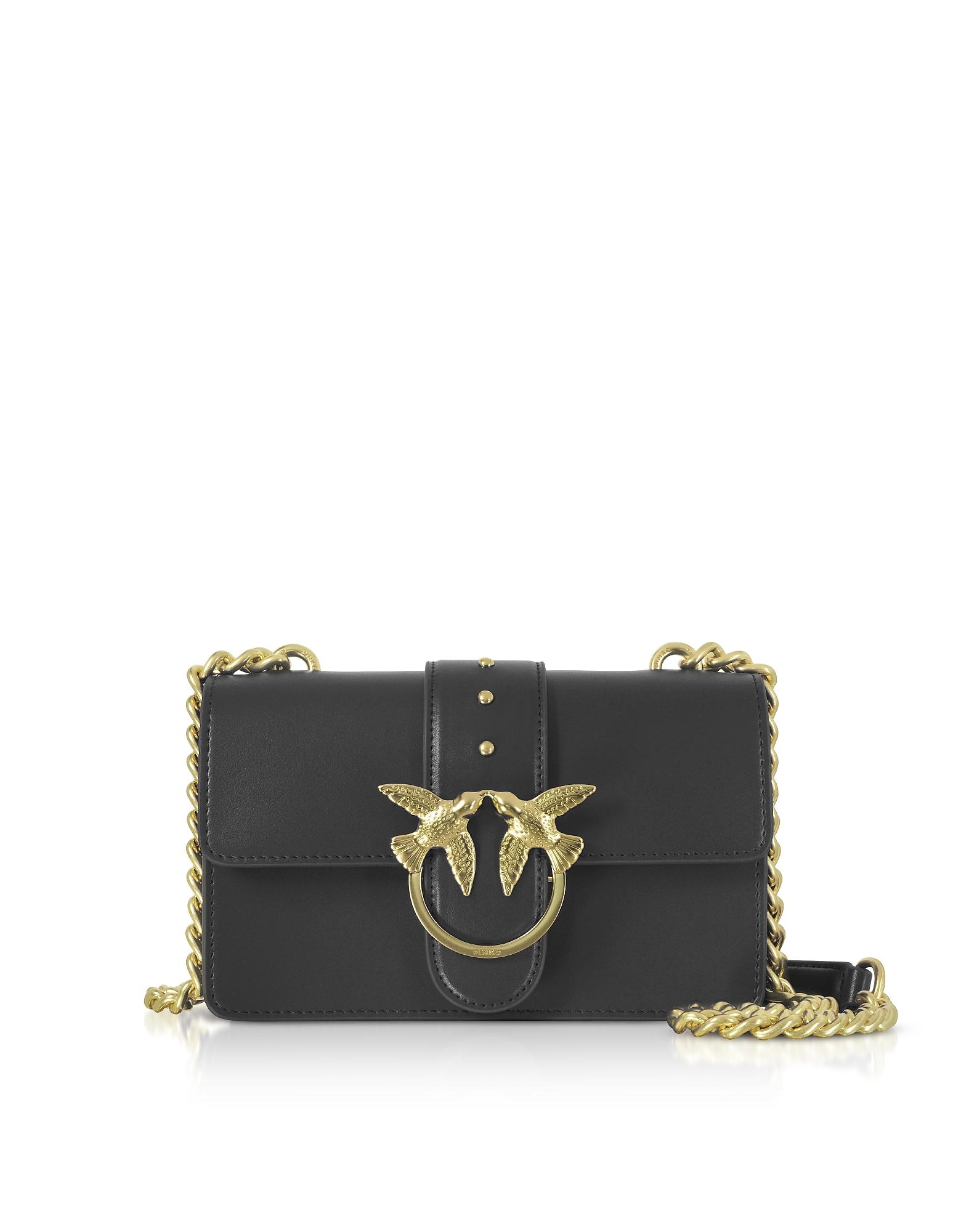 Mini Love Crossbody Bag, Black