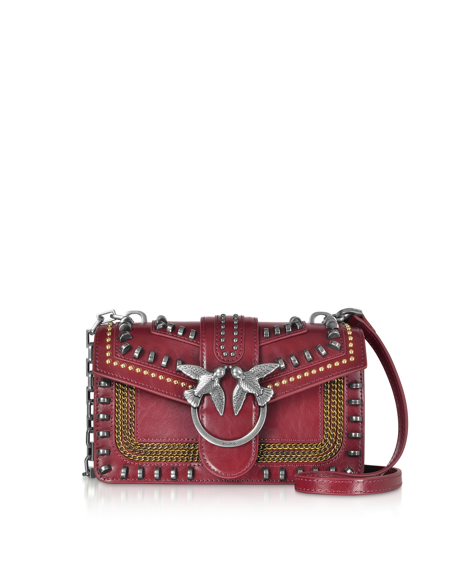 Mini Love Mix Crossbody Bag w/ Studs