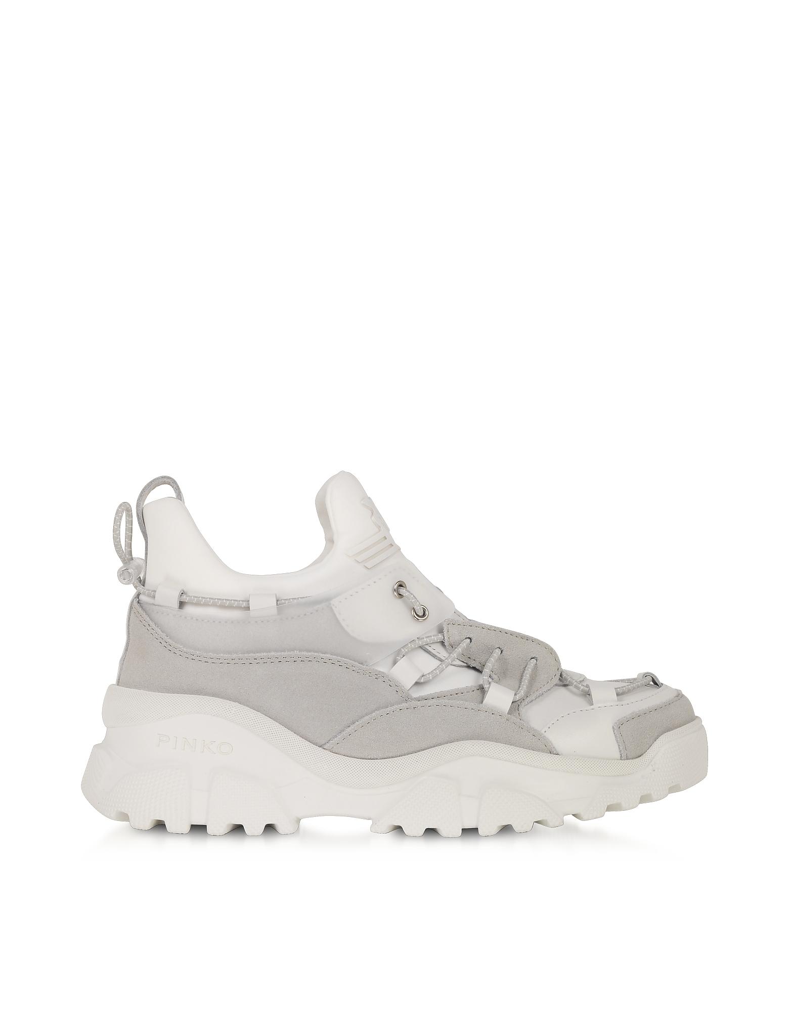 Pinko Designer Shoes, Cumino White Leather Women's Sneakers