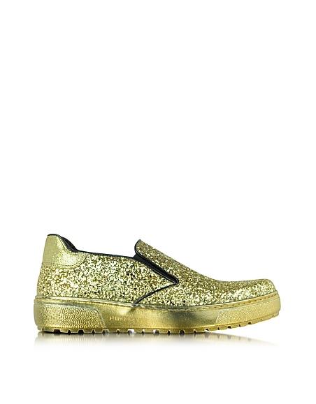 Foto Pinko Marin Sneaker Slip-on con Glitter Oro Scarpe