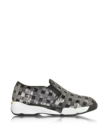 Pinko - Sequins Silver Fabric Sneaker