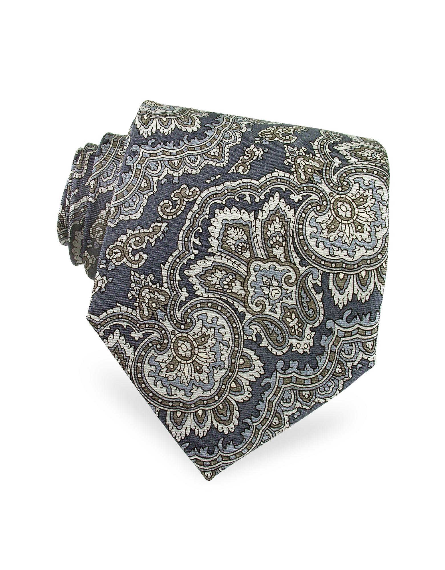Ken Scott  Paisley Printed Silk Tie