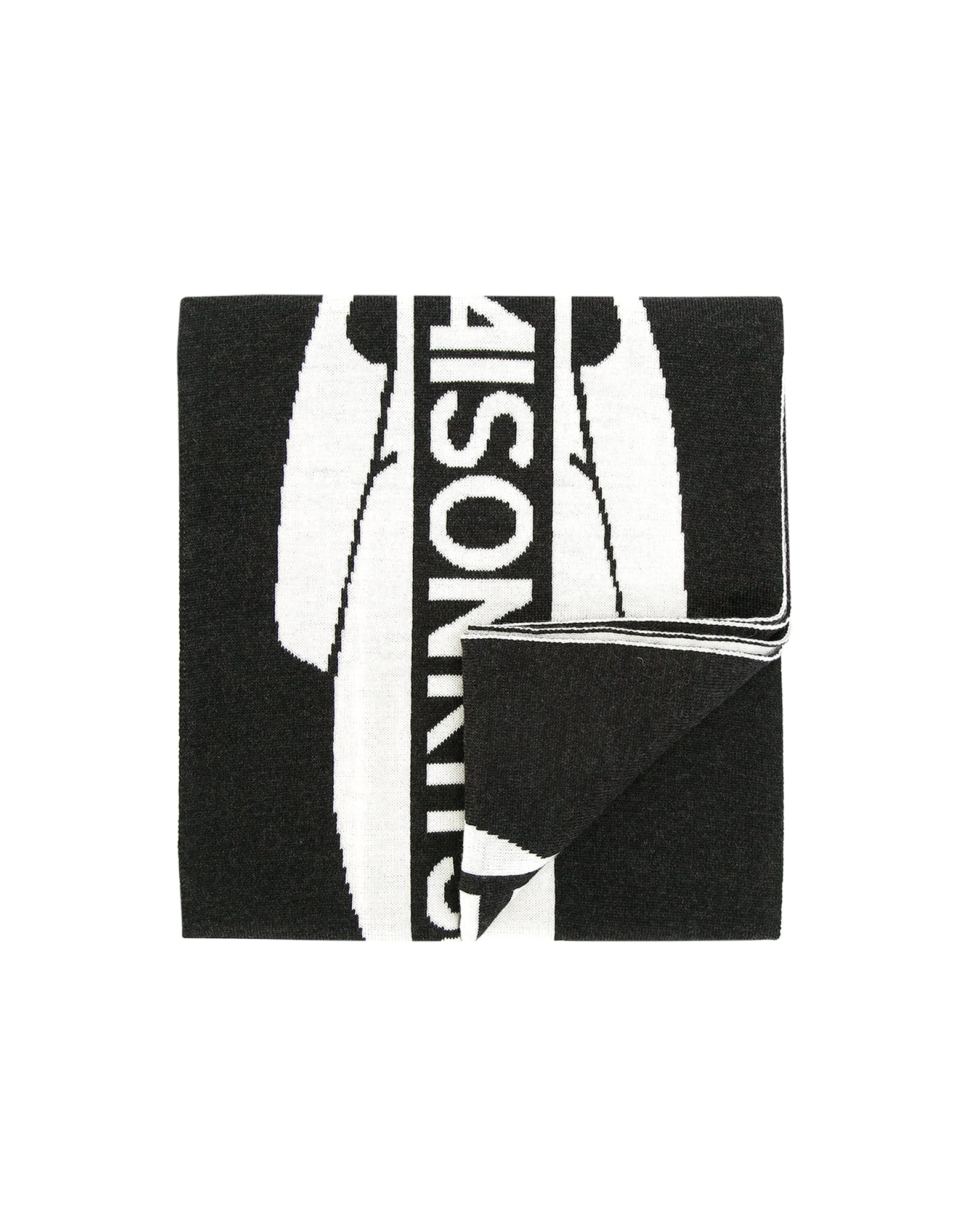 Image of Black & White Supporter Wool Scarf