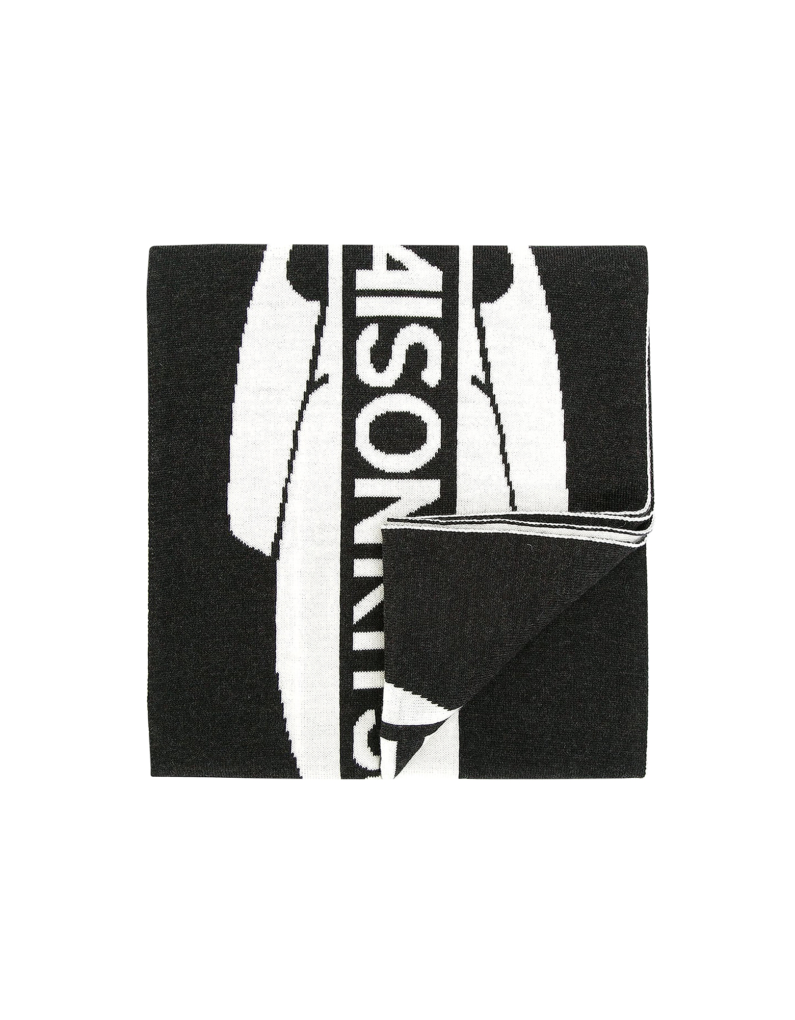 Black & White Supporter Wool Scarf