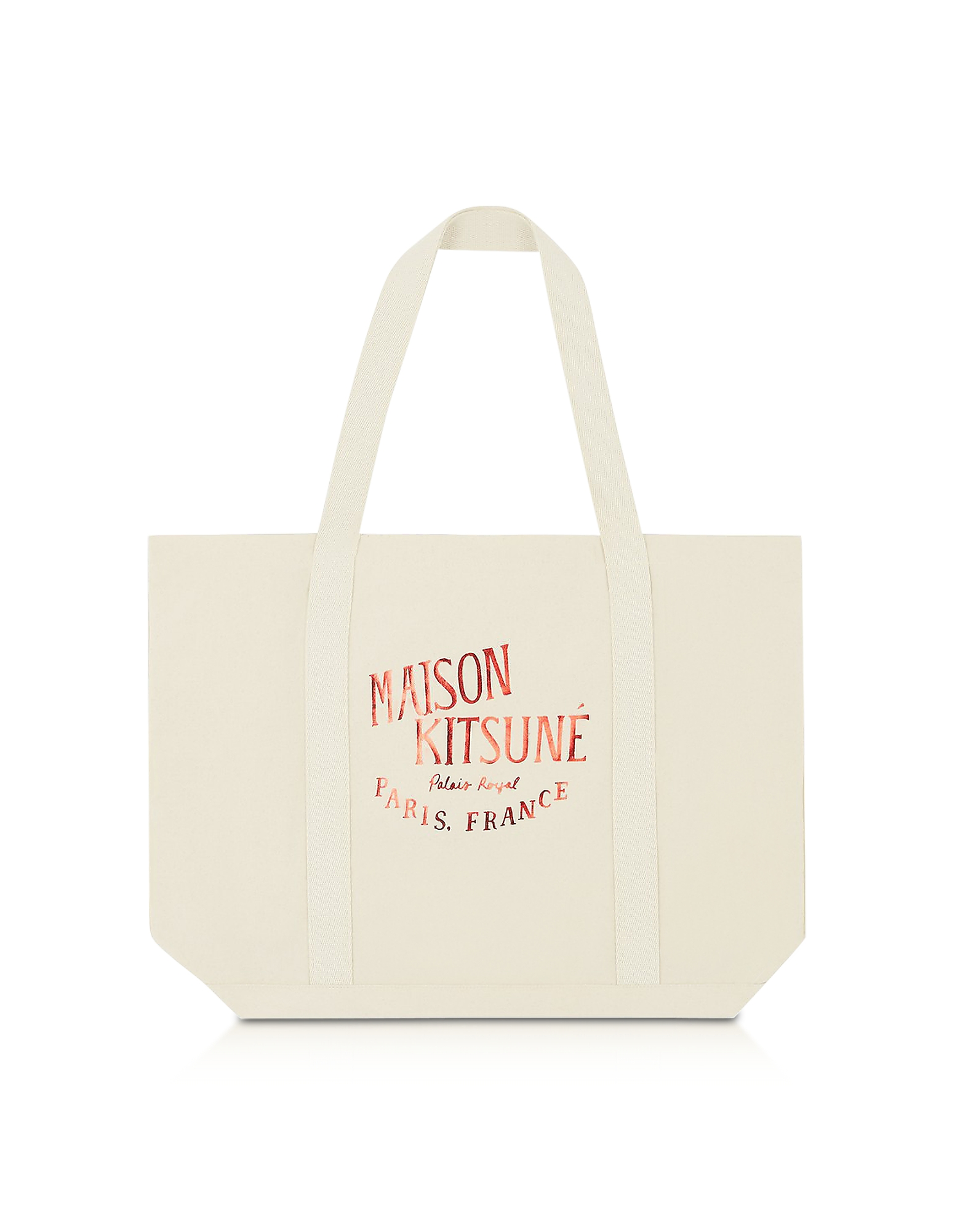 Palais Royal Red and Ecru Cotton Canvas Tote Bag