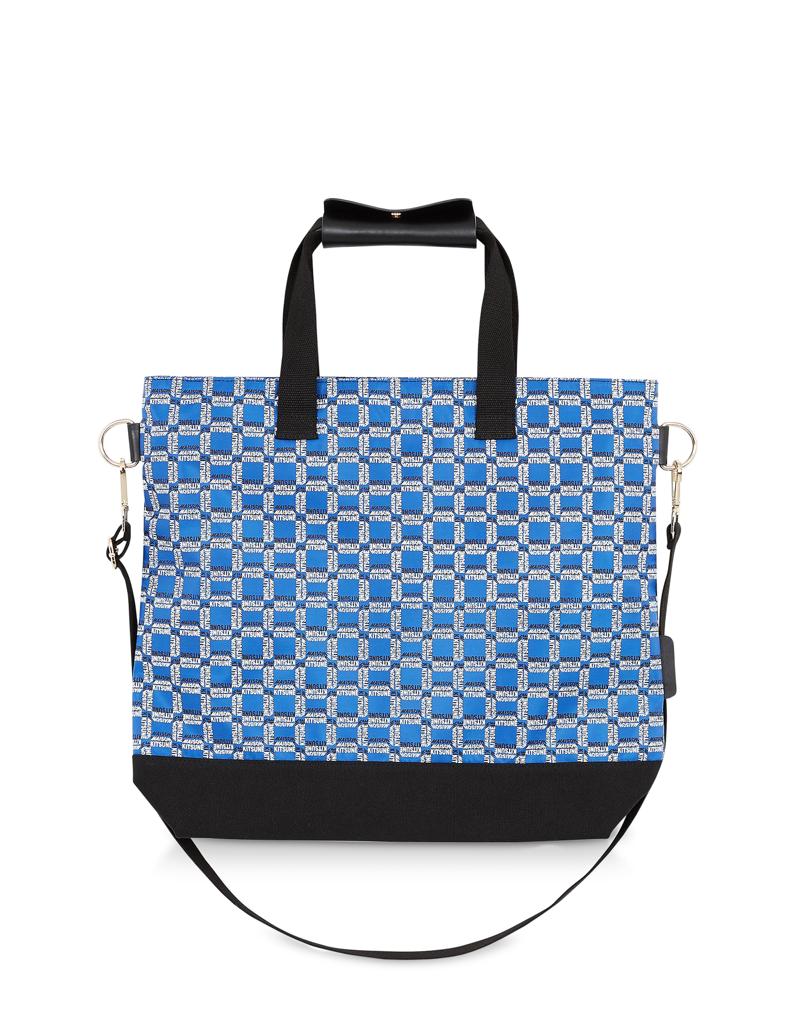 Image of All Over Rectangle Printed Nylon Tote Bag