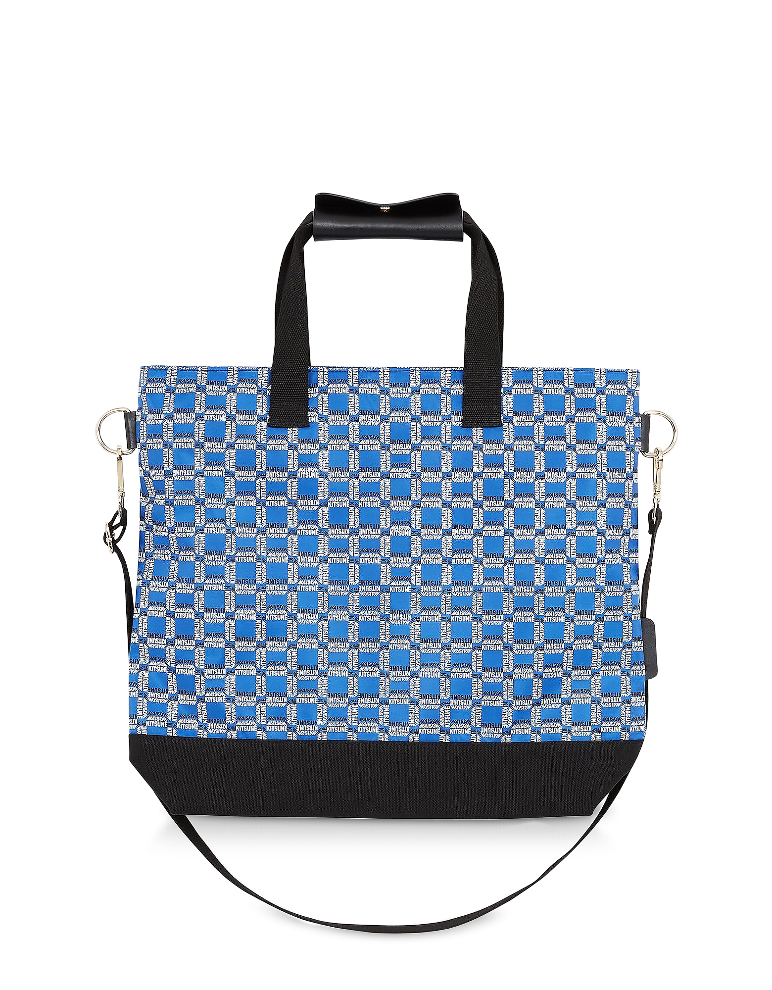 All Over Rectangle Printed Nylon Tote Bag