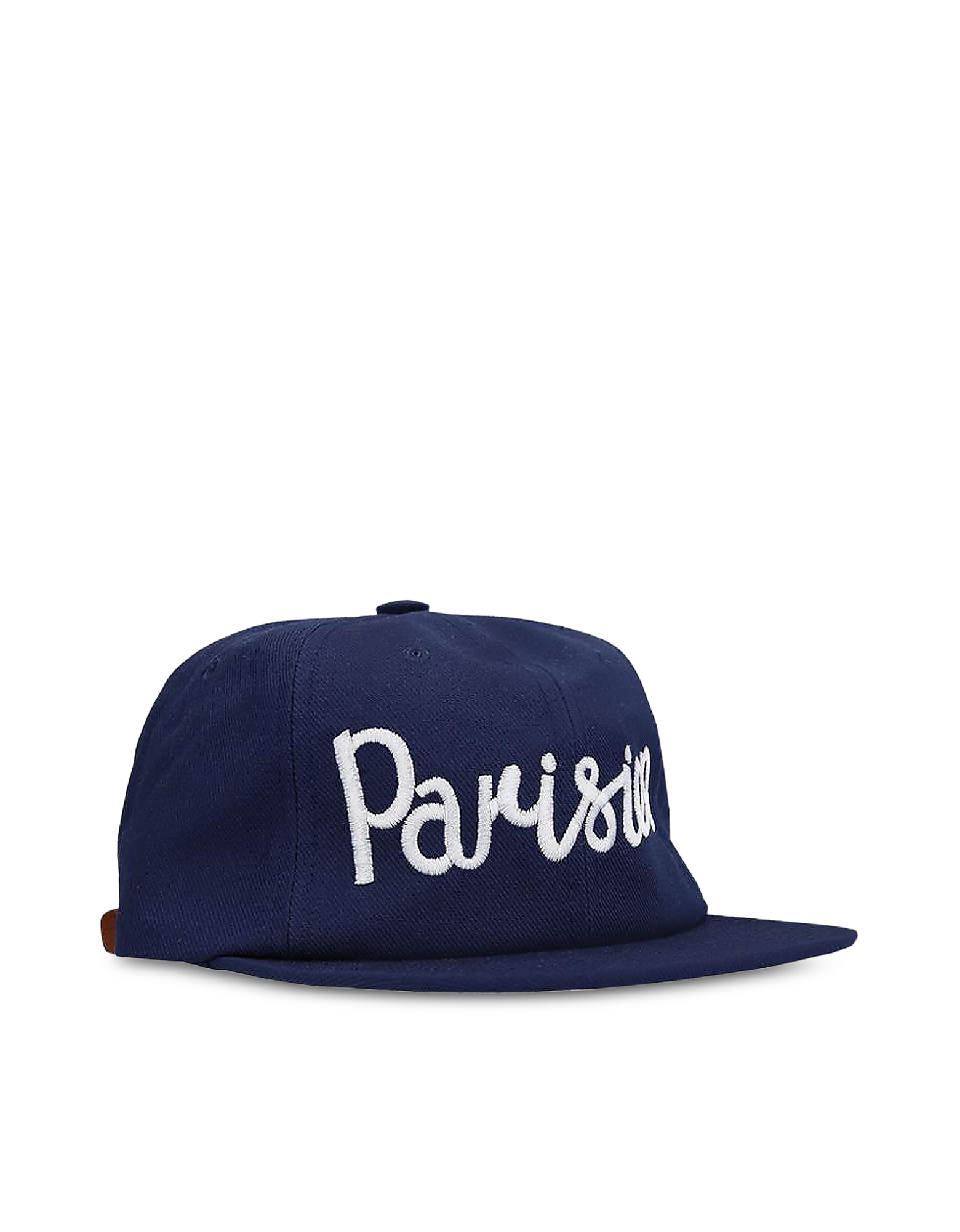 Parisian Embroidered Navy Blue Cotton Blend Baseball Cap