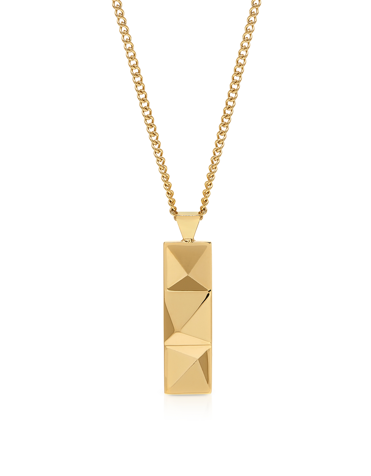 Northskull Designer Men's Necklaces, In'N'Out Tag Necklace Yellow Gold