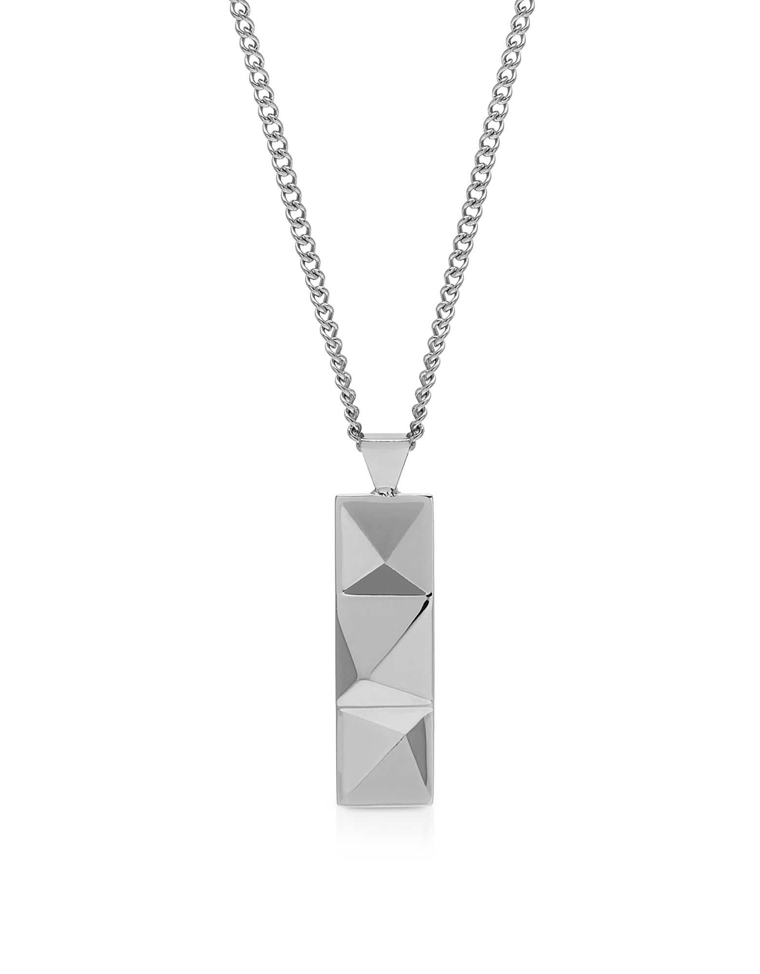 Northskull Designer Men's Necklaces, In'N'Out Tag Necklace Silver