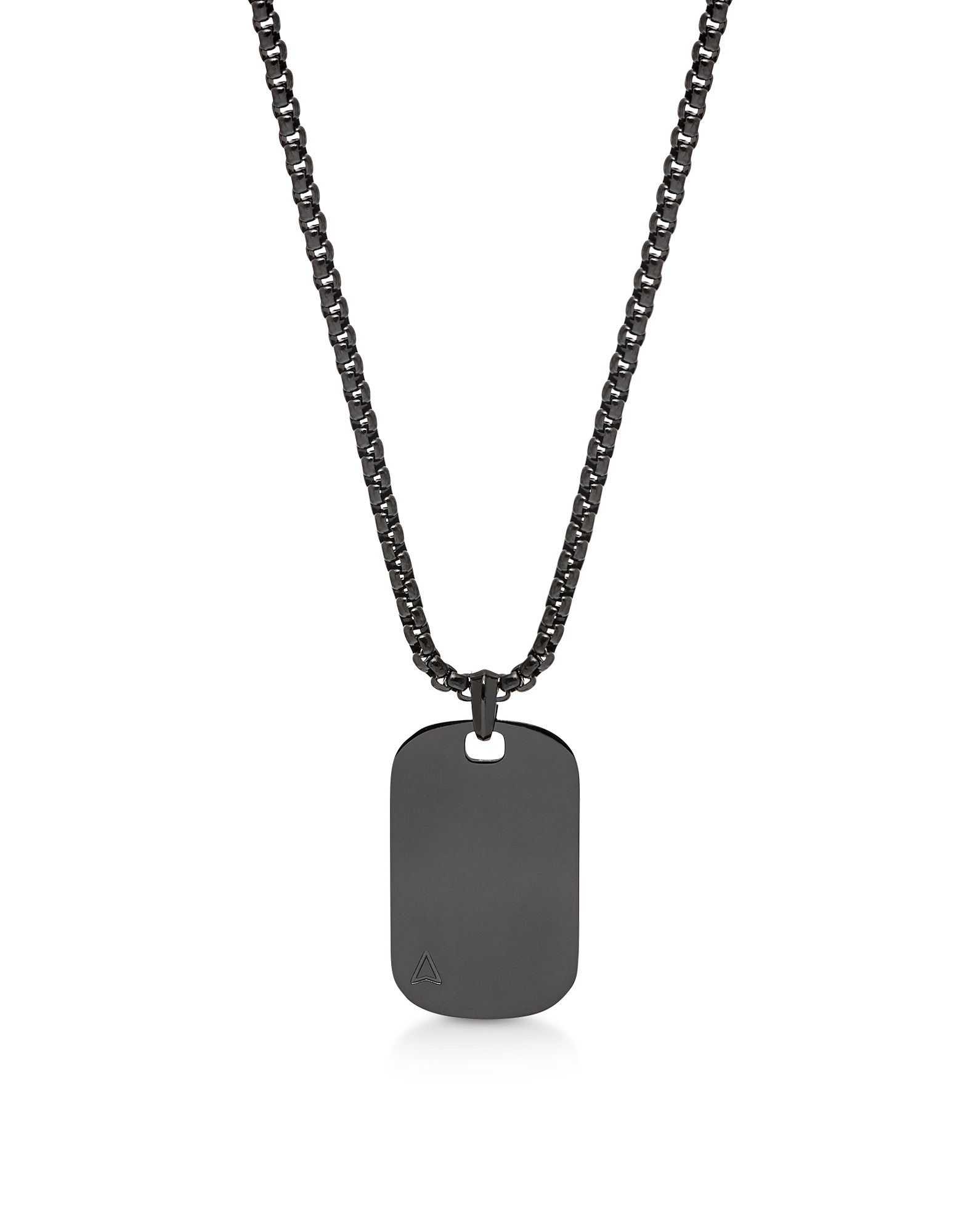 Id Tag Necklace Gunmetal