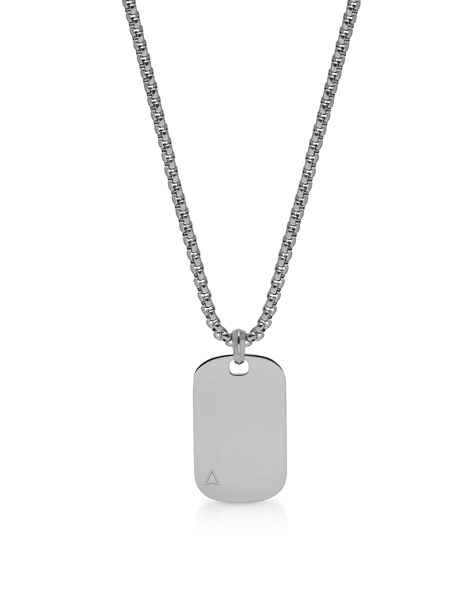 Northskull Designer Men's Necklaces, Id Tag Necklace Gunmetal