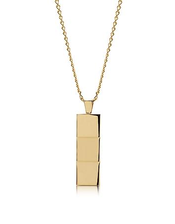 Colier Northskull din alamă, placat cu aur