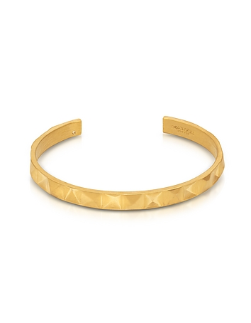 Northskull - In 'n' Out Brushed Gold Plated Brass Cuff