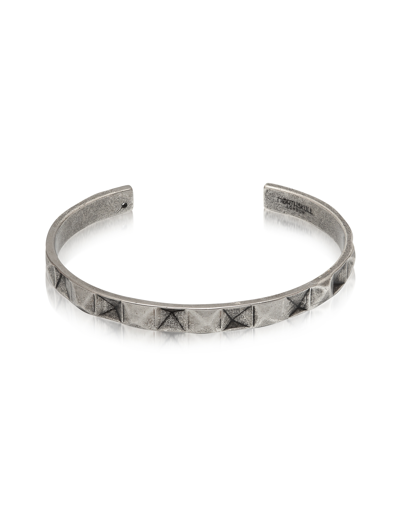 Northskull Men's Bracelets, In 'n' Out Aged 925 Silver Plated Brass Cuff