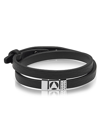 Northskull - Insignia Black and Silver Double Wrap Bracelet