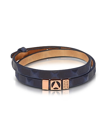 Northskull - Jibiti Blue and Rose Gold Double Wrap Bracelet