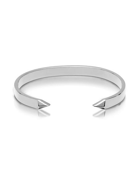 Northskull The End - Bracelet Manchette Homme en Laiton Argent