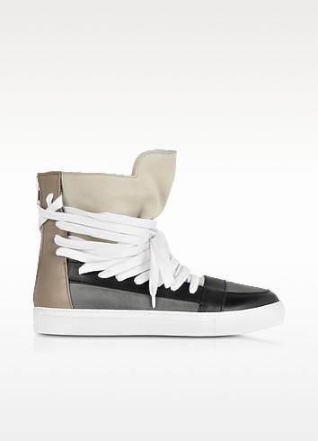 Multi Brown Multilaces High Top Sneaker - Krisvanassche