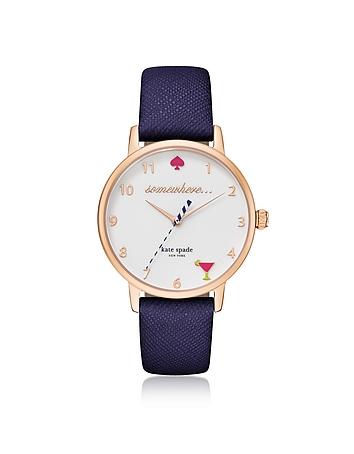 Kate Spade New York 5 O'Clock Blue Metro Women's Watch