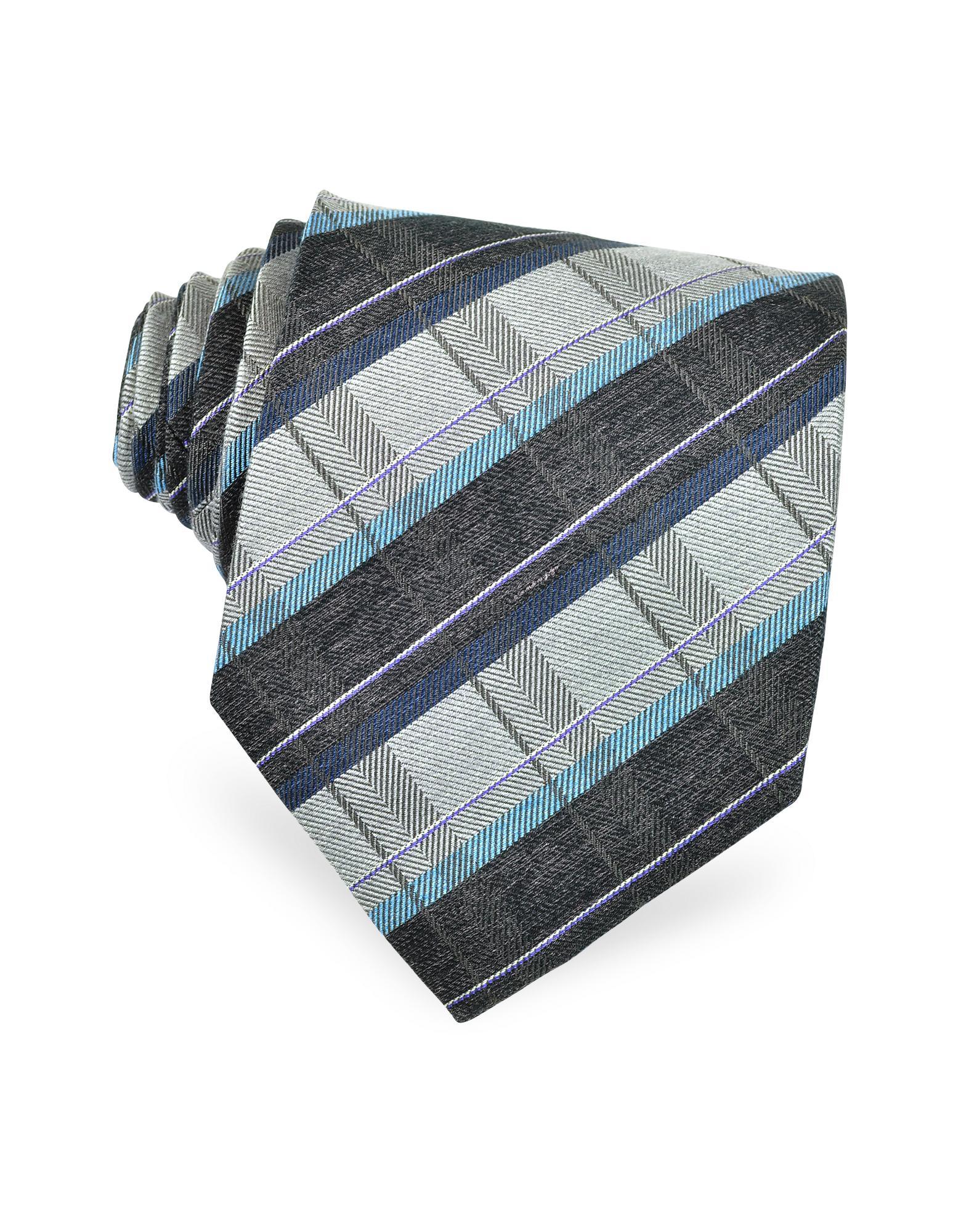 Kenzo  Diagonal Bands Silk Tie