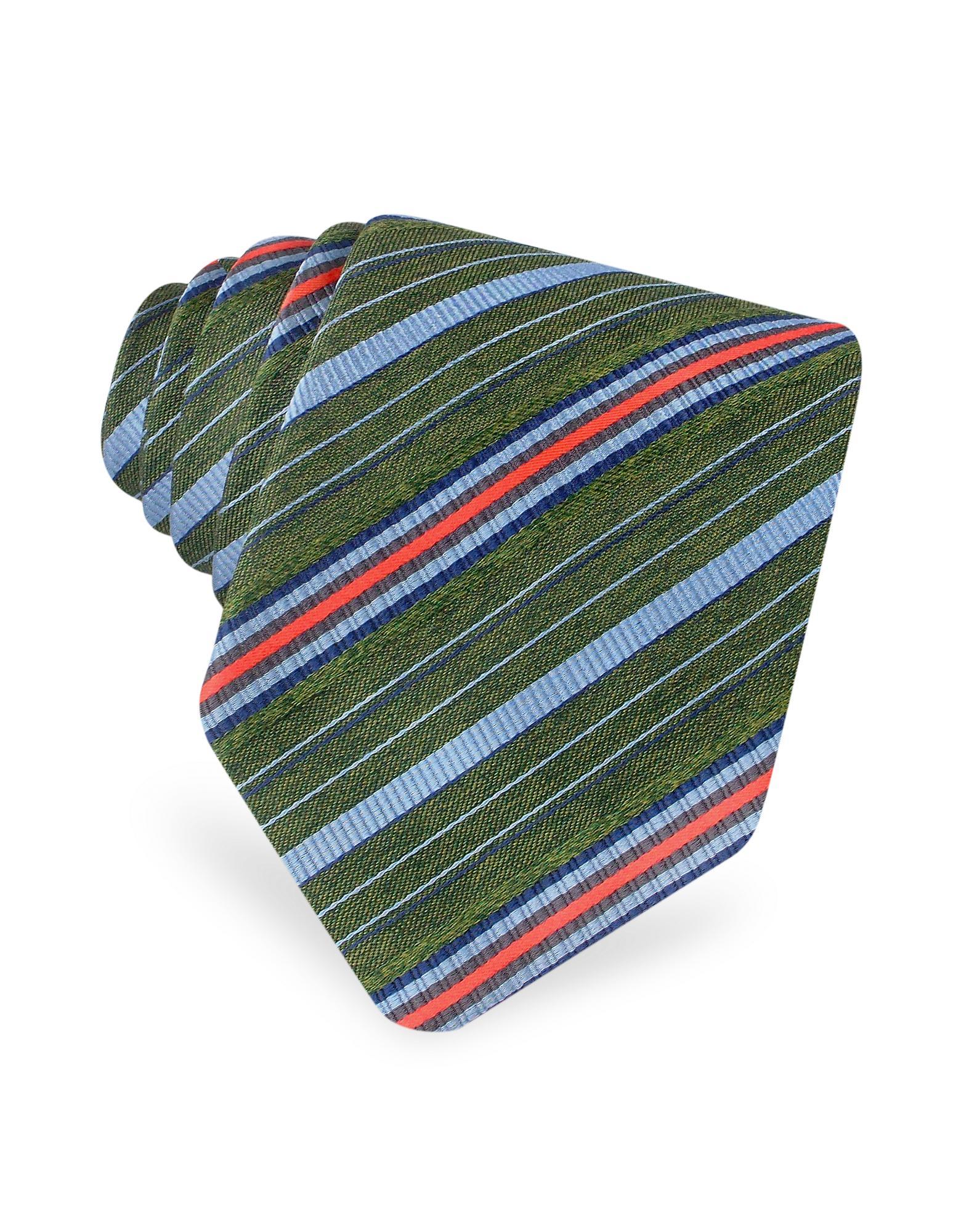 Kenzo  New Regimental Stripe Woven Silk Tie