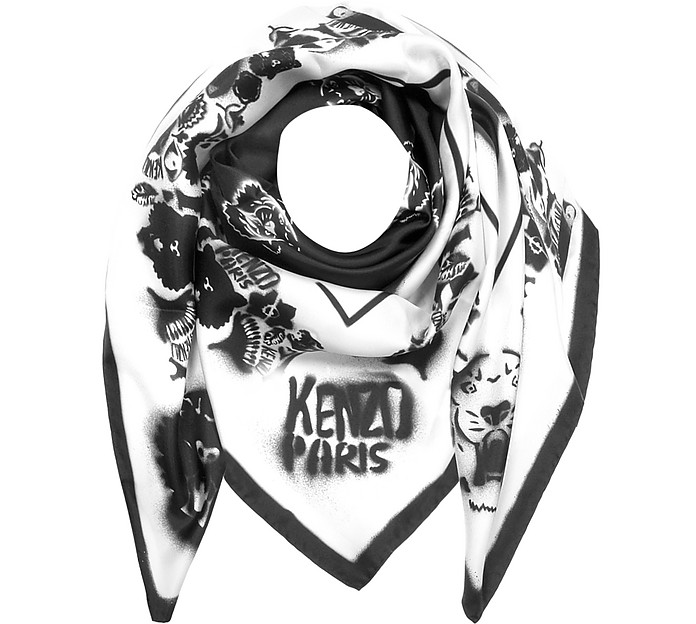 Free Shipping Genuine Kenzo Tiger Graffiti scarf For Sale Discount Sale Free Shipping Latest Collections GKXl3oXBpk