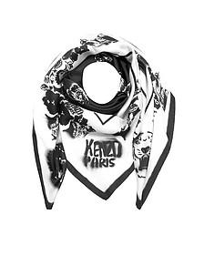 Tiger Graffiti Silk Square Scarf - Kenzo