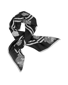 Cotton and Silk Printed Tiger Bandana - Kenzo
