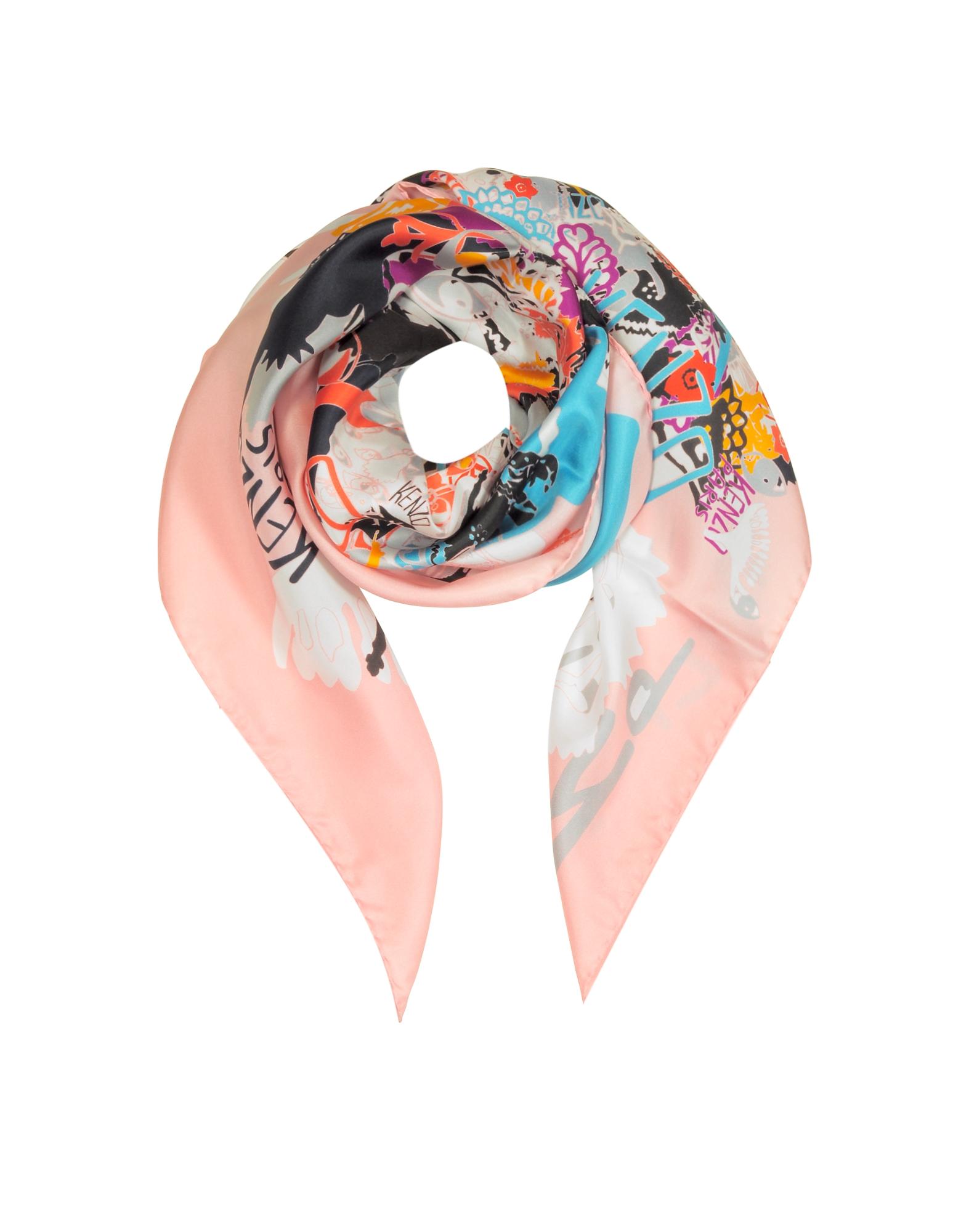 Kenzo Shawls & Wraps, Pure Silk Printed Wrap