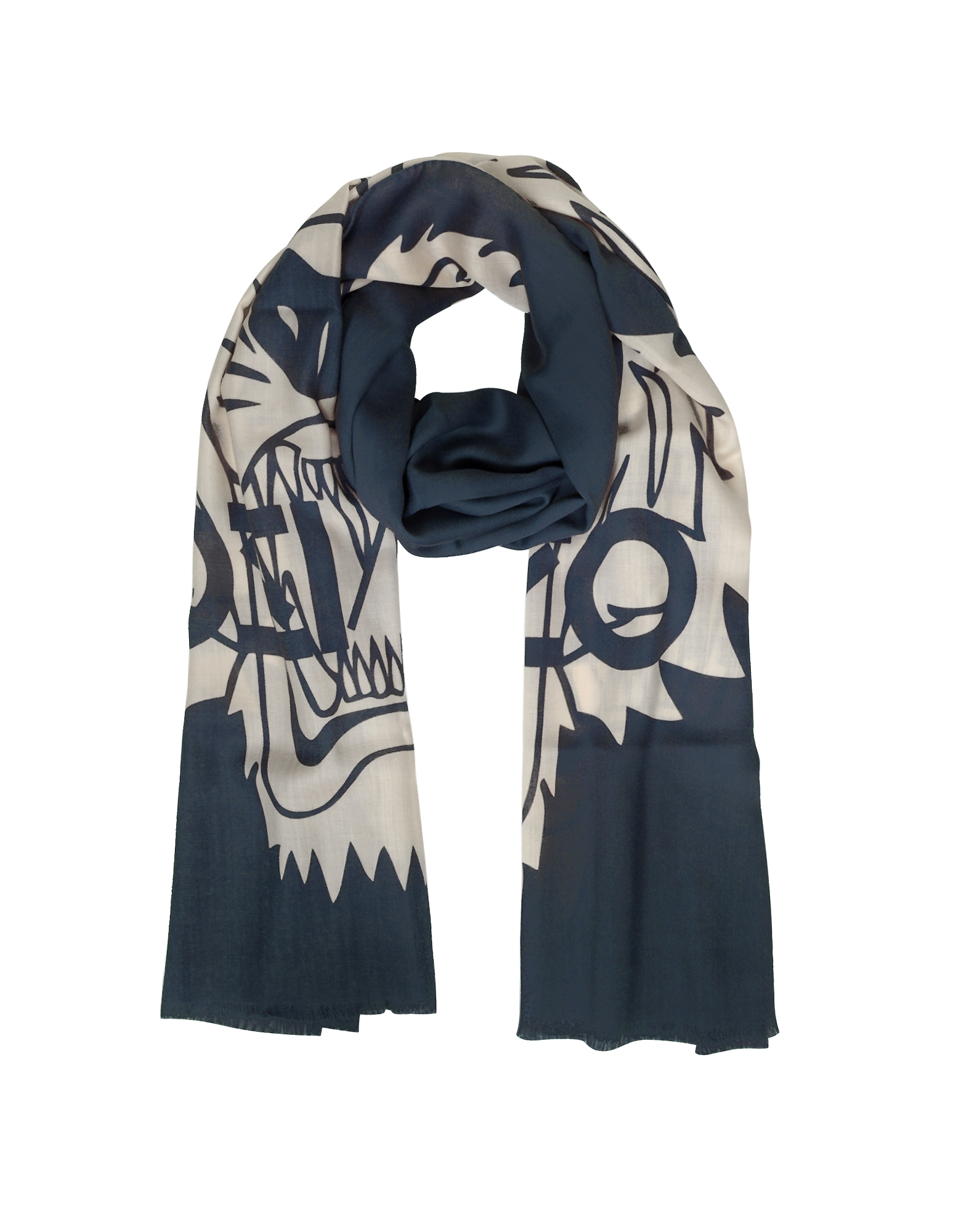 Wool and Silk Crest Tiger Stole от Forzieri.com INT