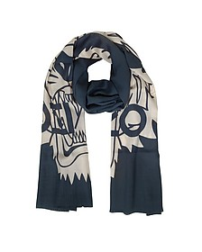 Wool and Silk Crest Tiger Stole - Kenzo