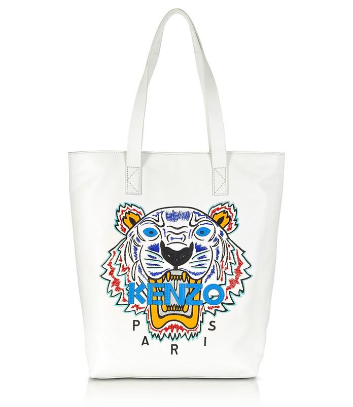 White Tiger Tote Bag - Kenzo