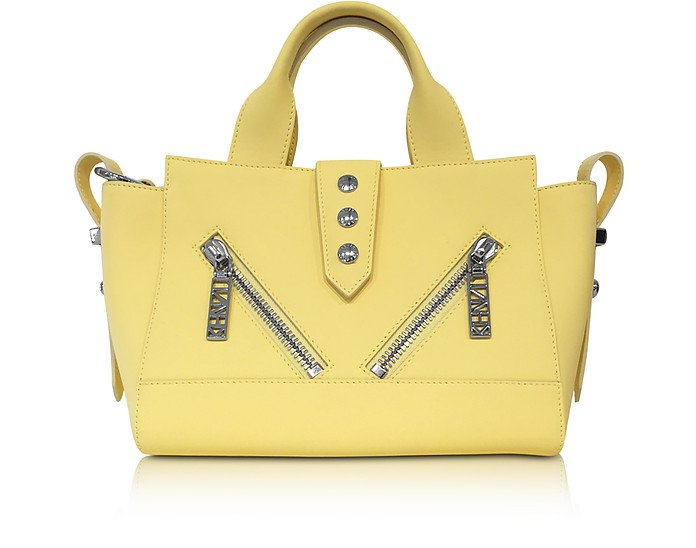 Light Yellow Gommato Leather Mini Kalifornia Satchel - Kenzo